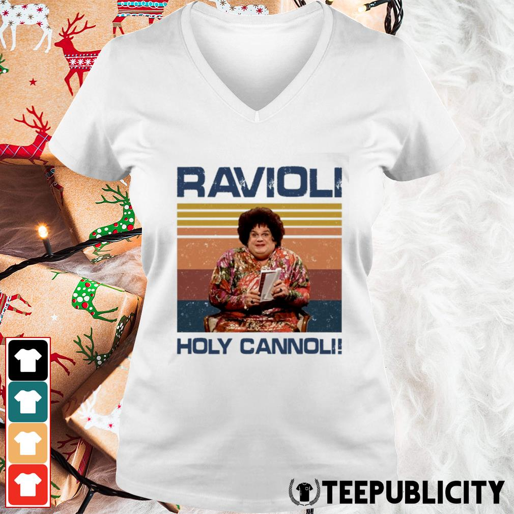 Ravioli holy cannoli vintage s v-neck-t-shirt