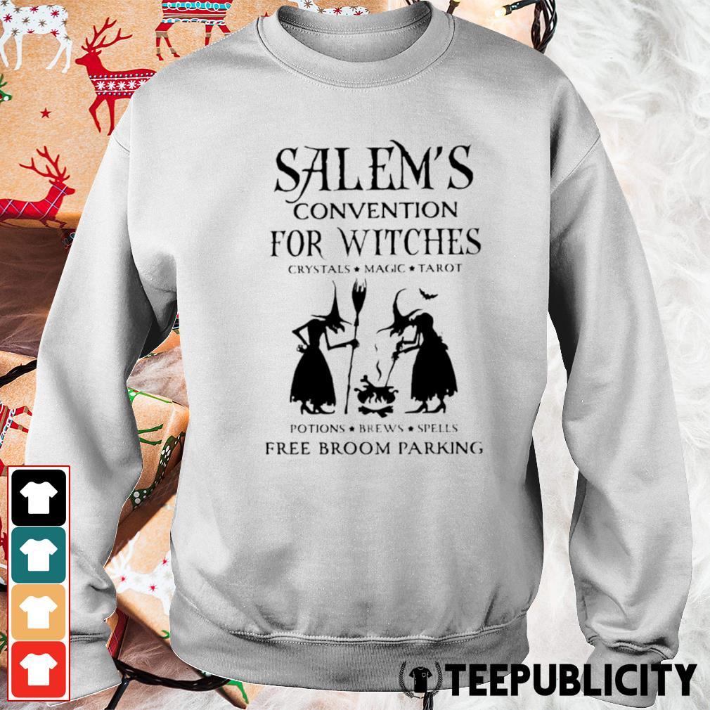 Salem's convention for Witches crystals magic tarot potions brews spells free broom parking s sweater