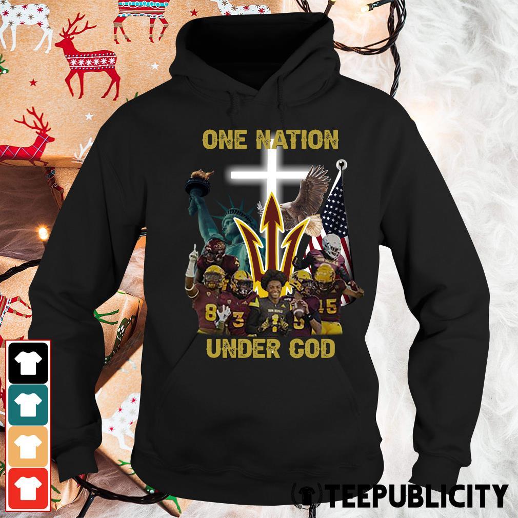Arizona State Sun Devils one nation under God s hoodie
