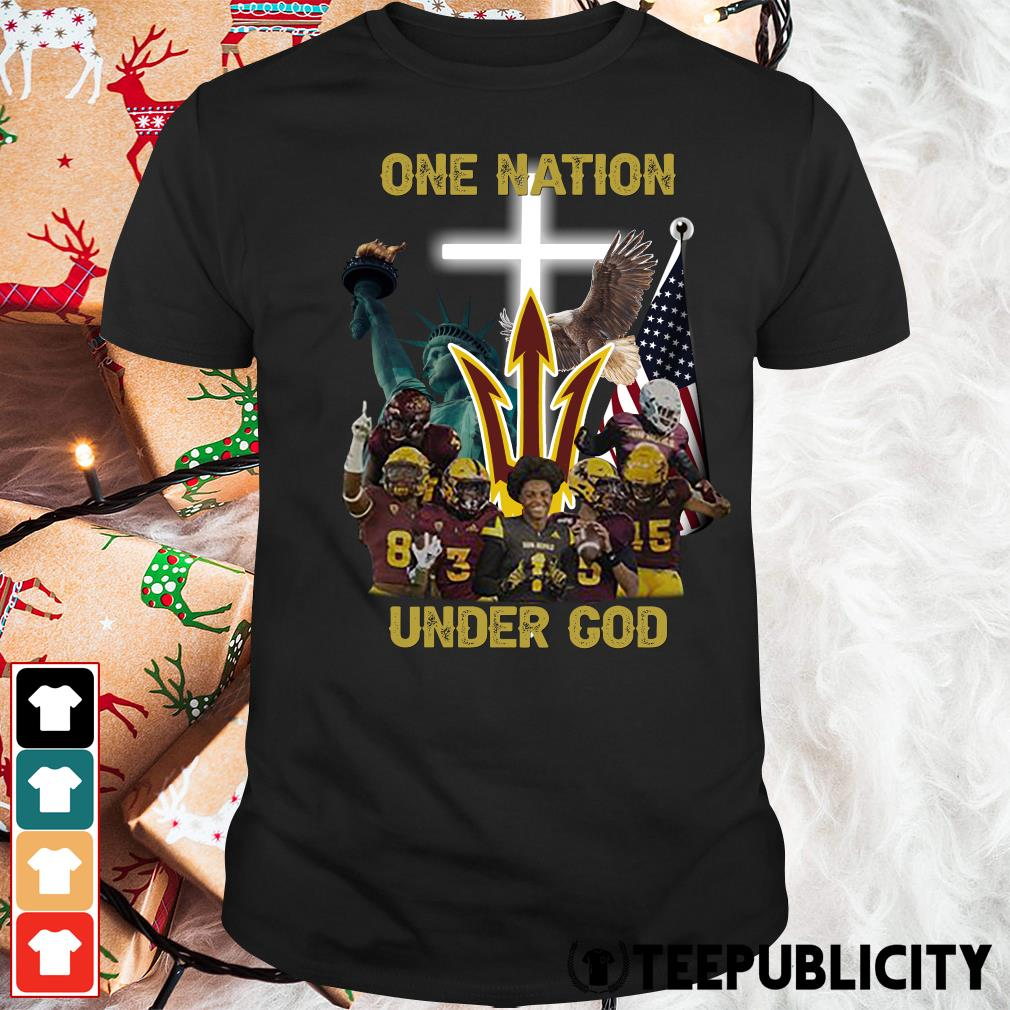Arizona State Sun Devils one nation under God shirt