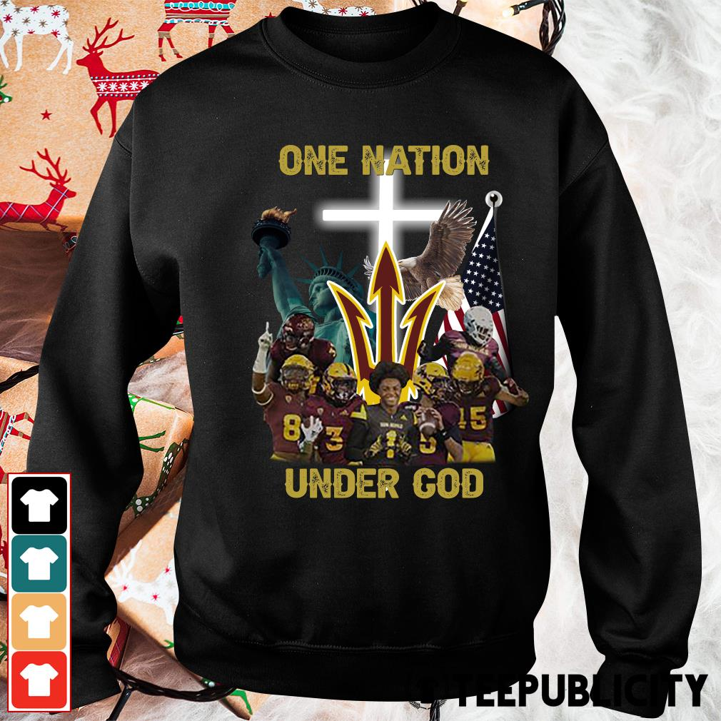 Arizona State Sun Devils one nation under God s sweater