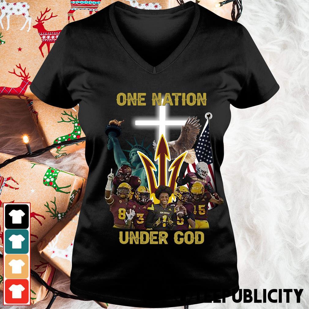 Arizona State Sun Devils one nation under God s v-neck-t-shirt