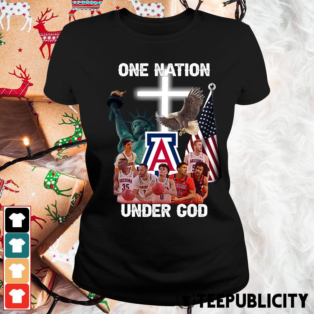 Arizona Wildcats one nation under God s ladies-tee