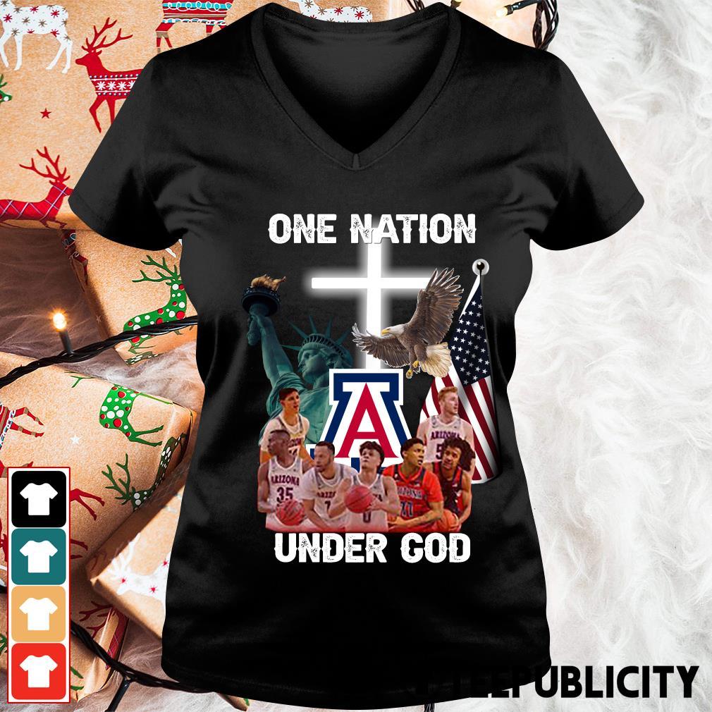 Arizona Wildcats one nation under God s v-neck-t-shirt
