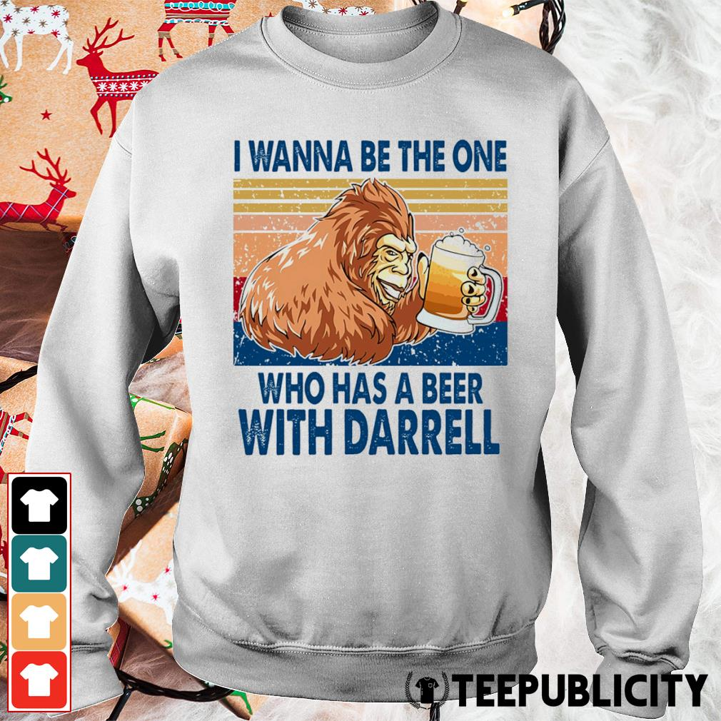 Bigfoot I wanna be the one who has a beer with Darrell vintage s sweater
