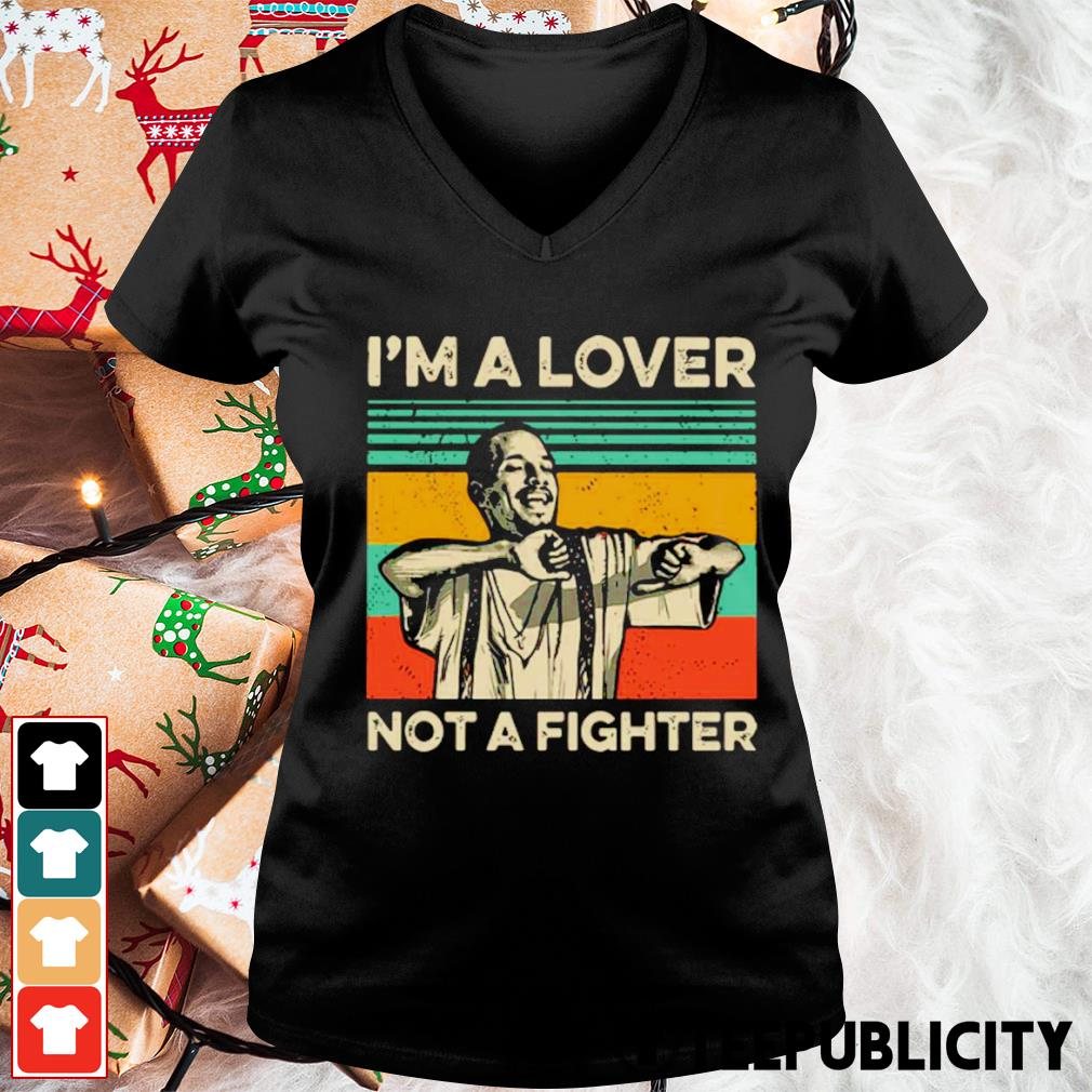 Blood in Blood Out Cruzito I'm a lover not a fighter vintage s v-neck-t-shirt
