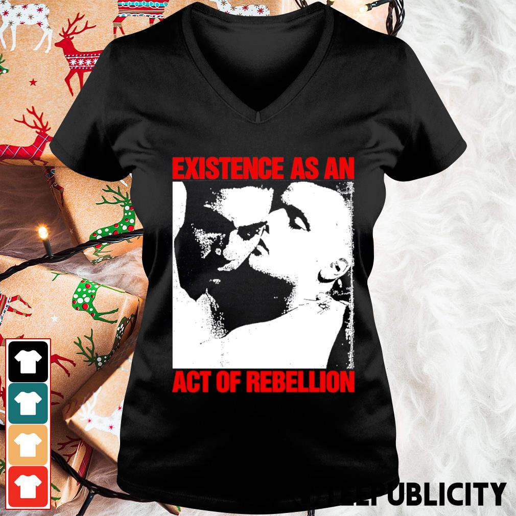 Existence as an act of rebellion s v-neck-t-shirt