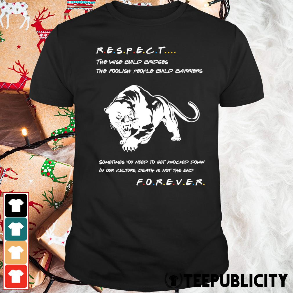 Respect the wise build bridges the foolish people build barriers shirt