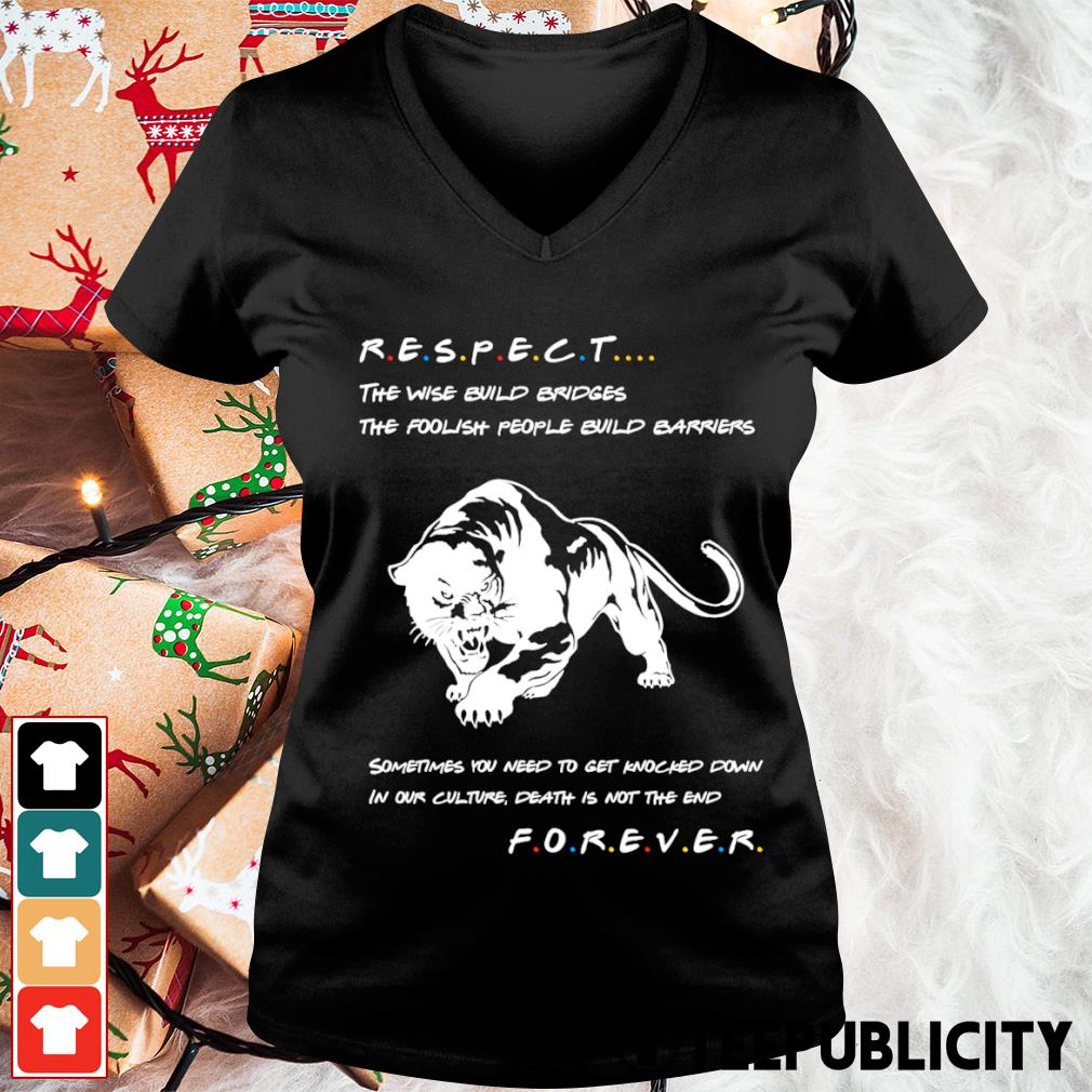 Respect the wise build bridges the foolish people build barriers s v-neck-t-shirt