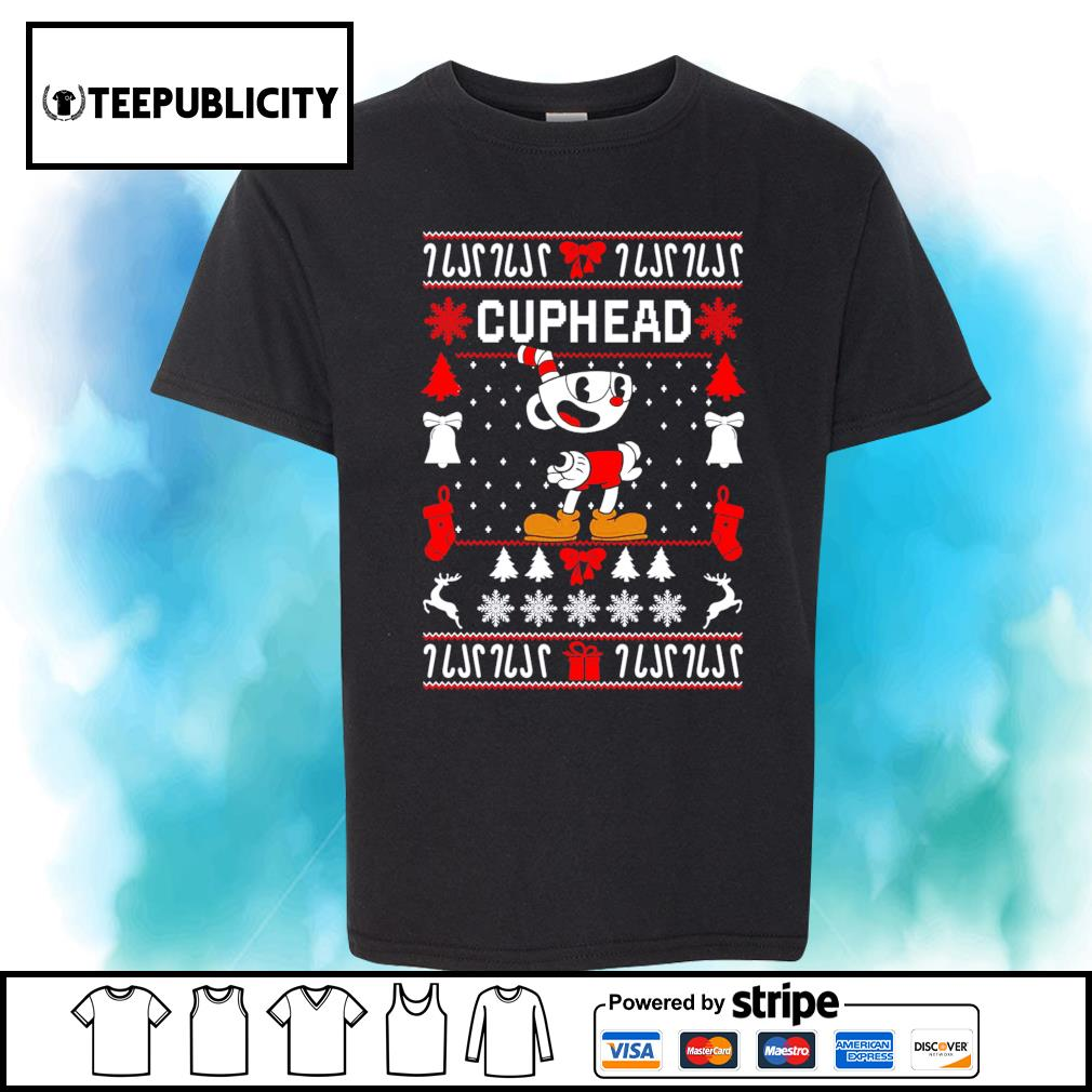 Cuphead ugly Christmas shirt