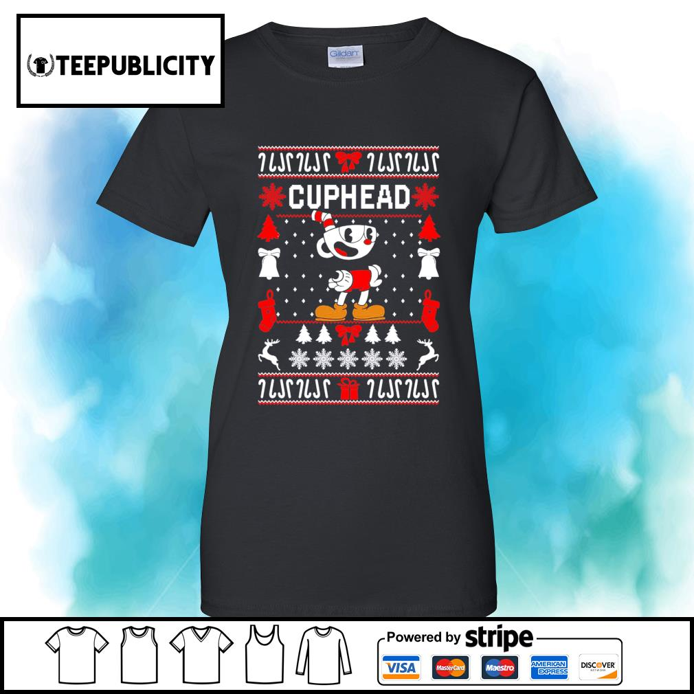 Cuphead ugly Christmas s v-neck-t-shirt