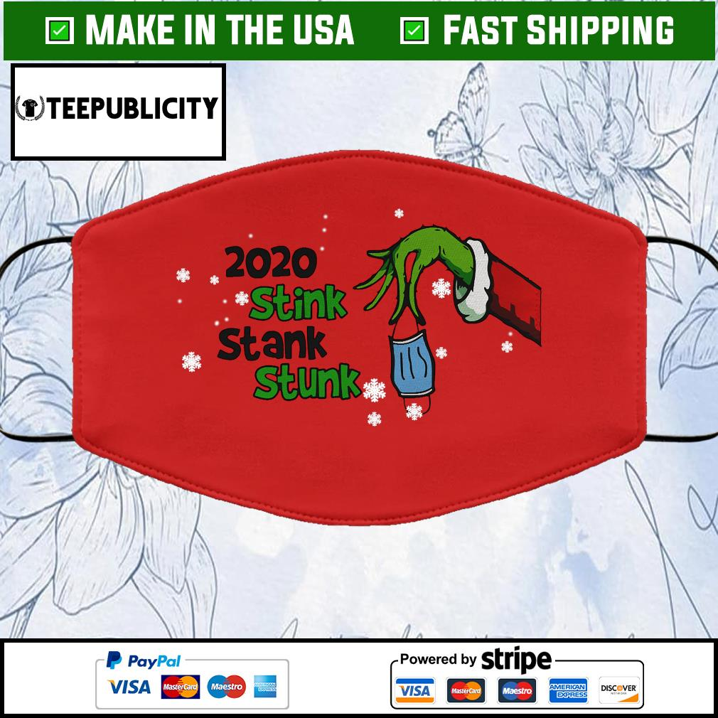 Grinch 2020 Stink Stank Stunk Cloth Face Mask Washable red