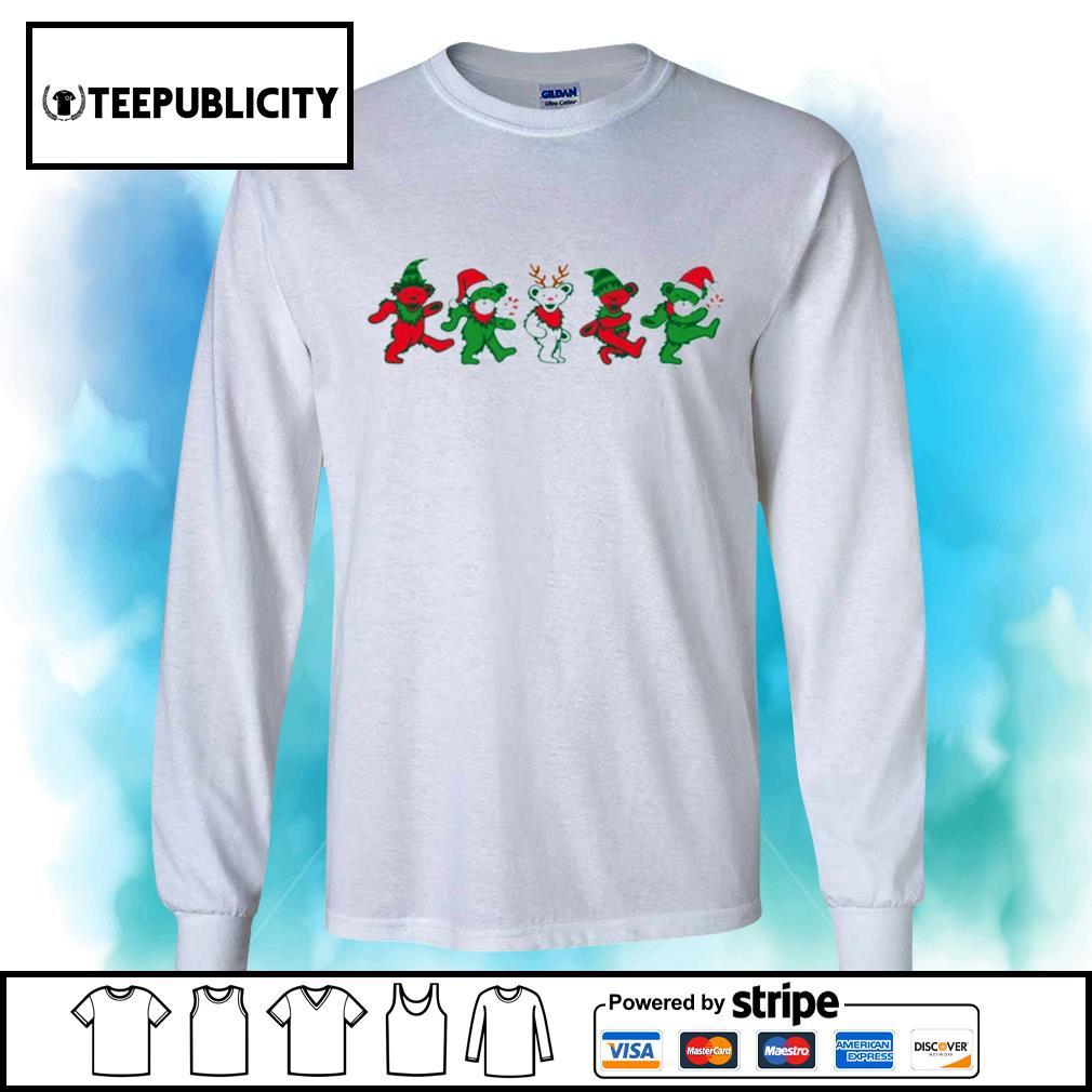 Jingle Bears Grateful Dead Dancing Bears Christmas Shirt Hoodie Sweater Long Sleeve And Tank Top