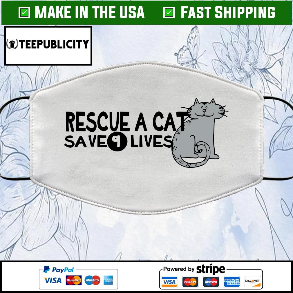 Rescue a cat save 9 lives face mask