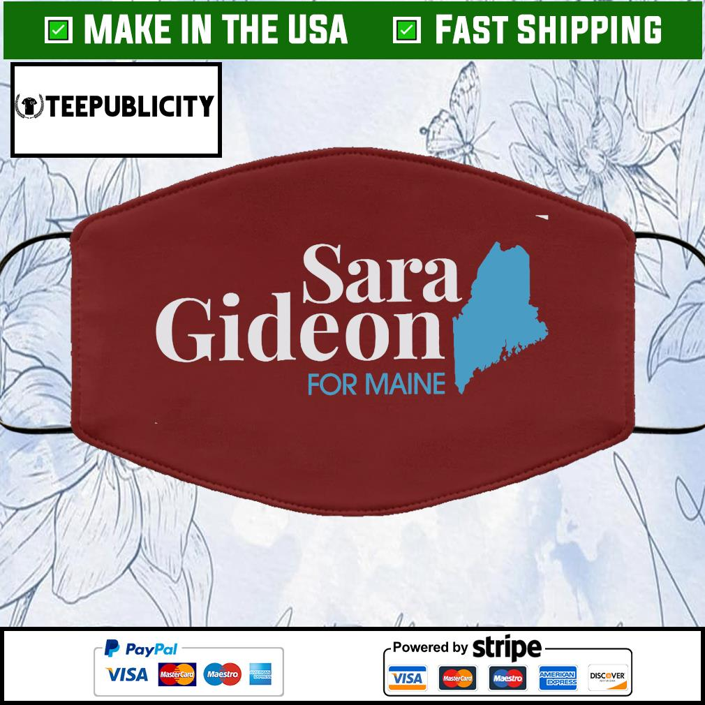Sara Gideon Cloth Face Mask Washable brown