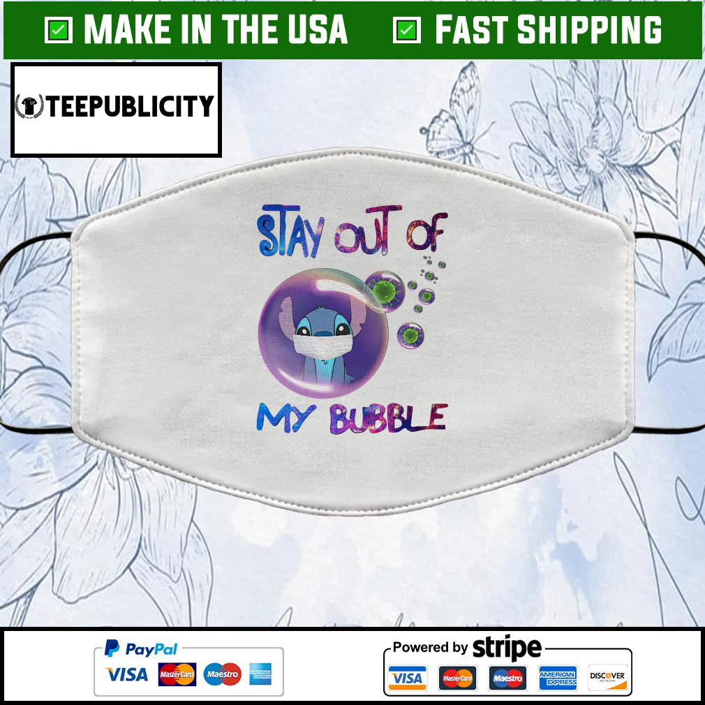 Stitch stay out of my bubble Cloth Face Mask Washable