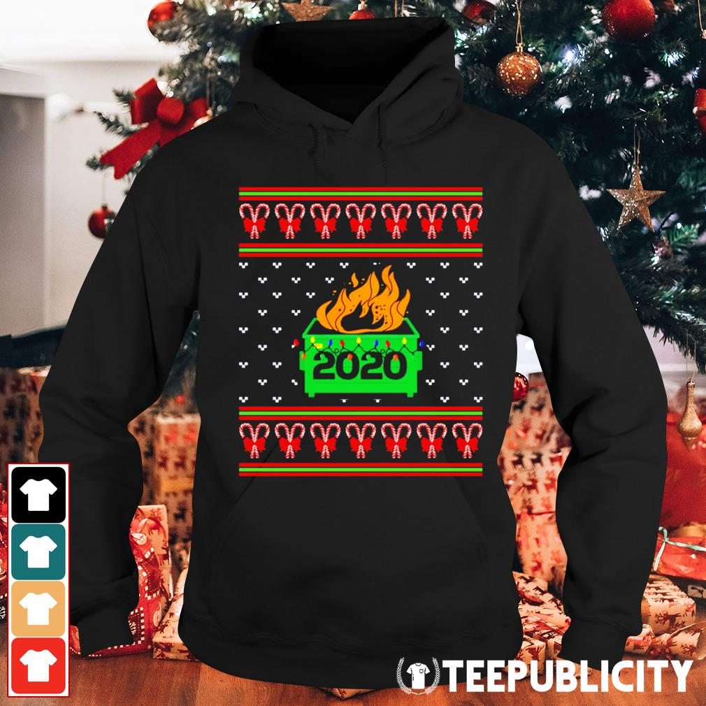 2020 Dumpster fire light ugly Christmas s hoodie