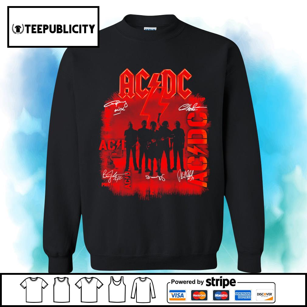 ACDC signature poster s sweater
