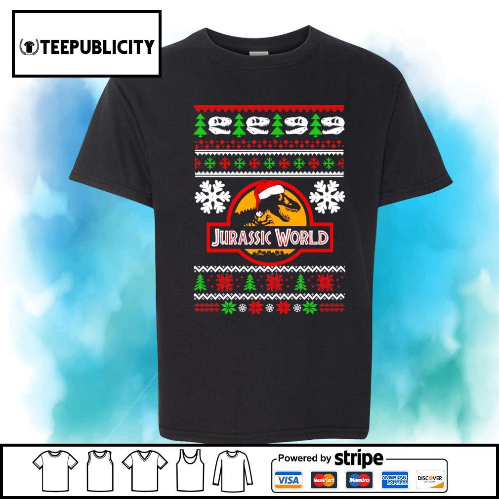 Jurassic World ugly Christmas shirt