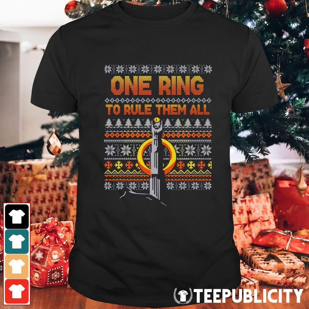 One Ring to rule them all ugly Christmas shirt