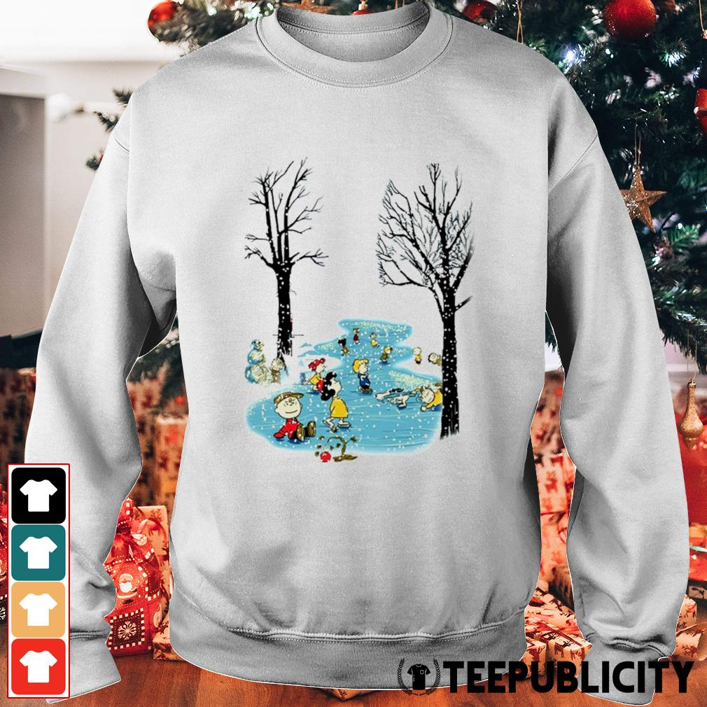 Peanuts characters skating Christmas s sweater