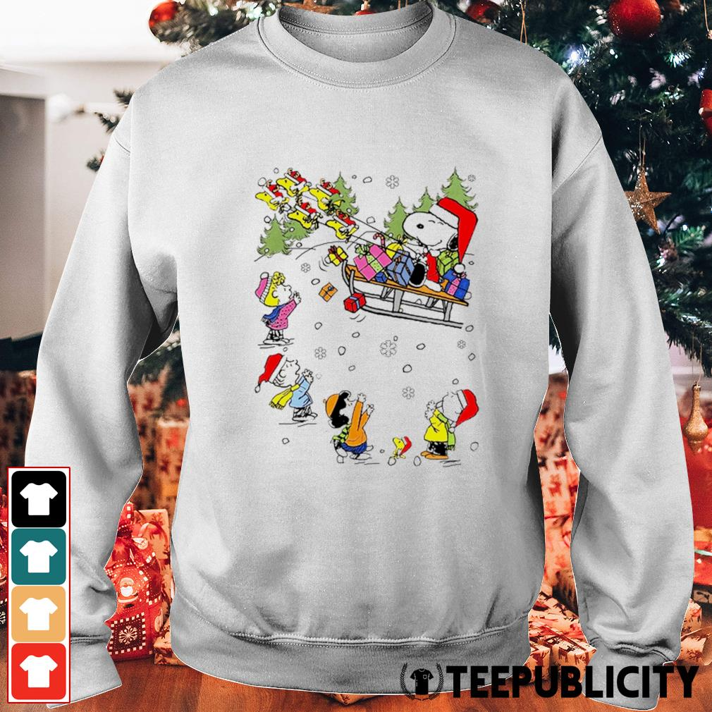 Santa Snoopy and Woodstock Reindeer and Peanuts characters Christmas s sweater