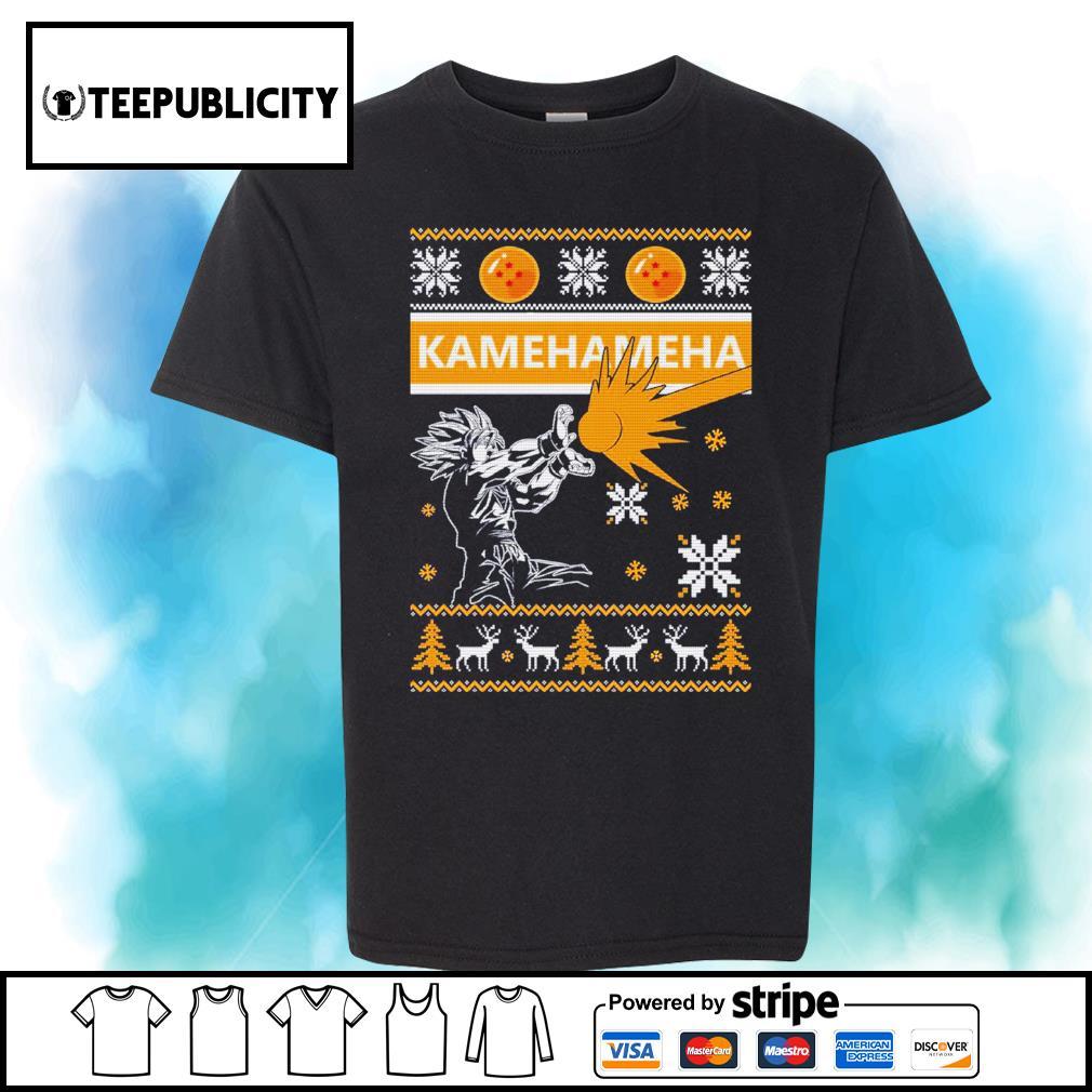 Songoku Kamehameha ugly Christmas shirt