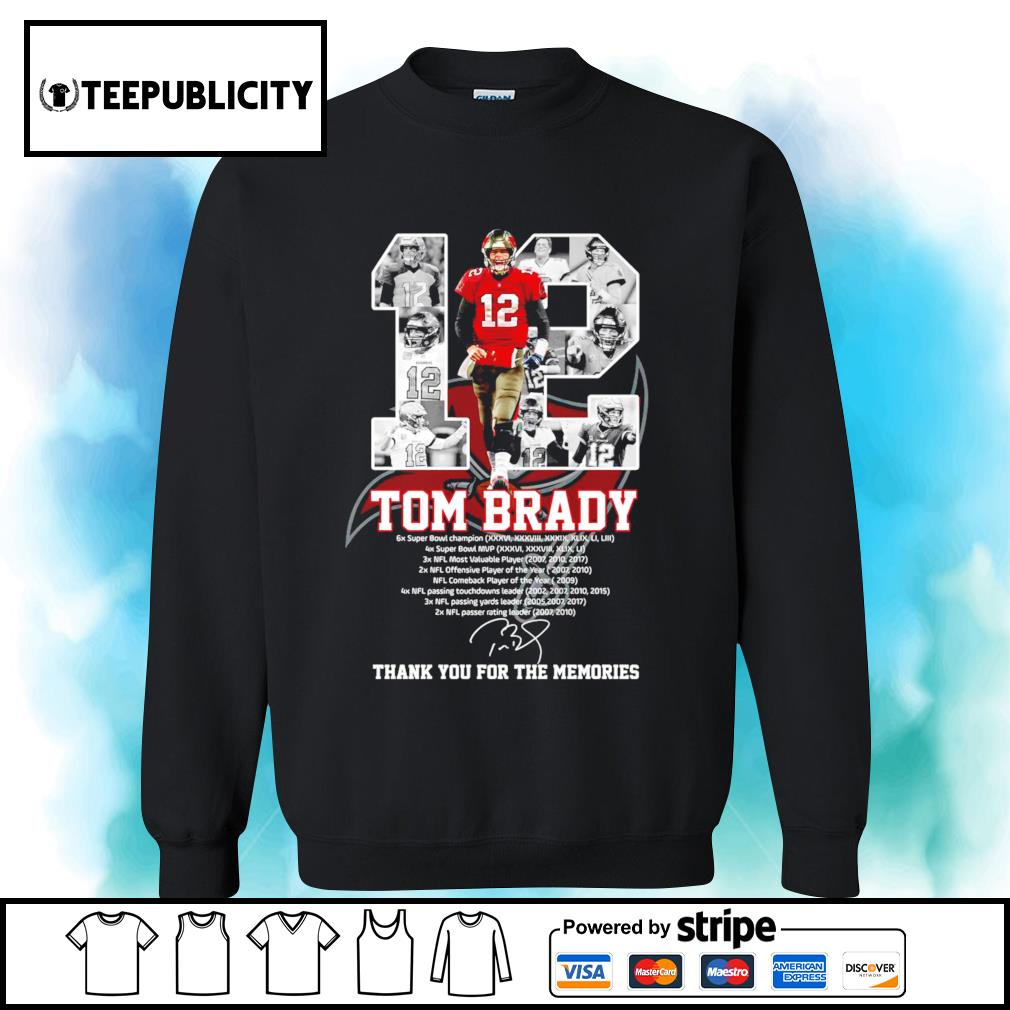 12 Tom Brady Tampa Bay Buccaneers thank you for the memories s sweater