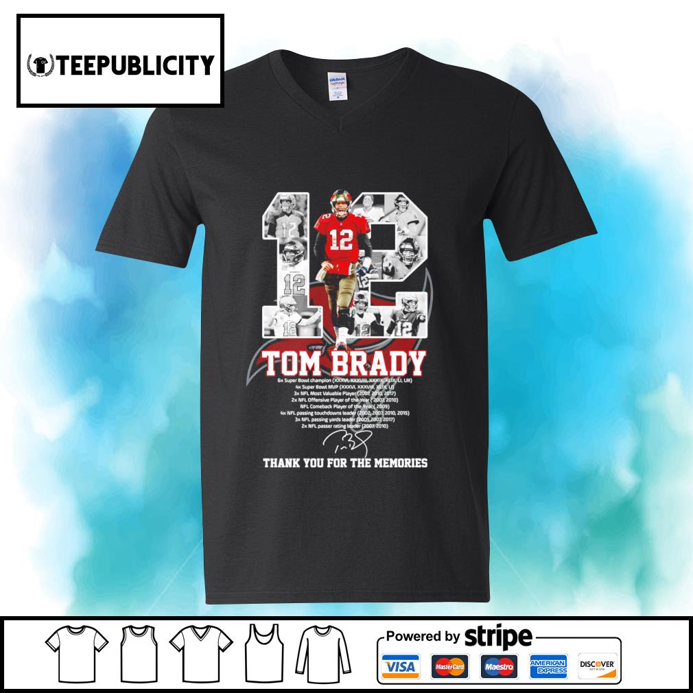 12 Tom Brady Tampa Bay Buccaneers thank you for the memories s youth-tee