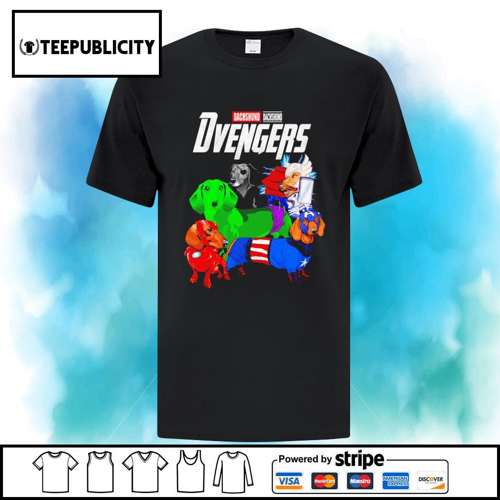 Dachshund Dvengers Marvel Avengers s ladies-tee