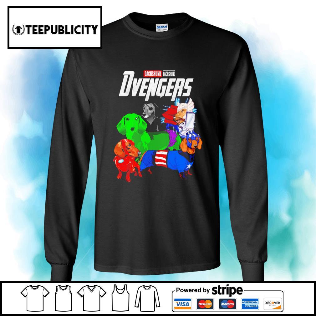 Dachshund Dvengers Marvel Avengers s longsleeve-tee