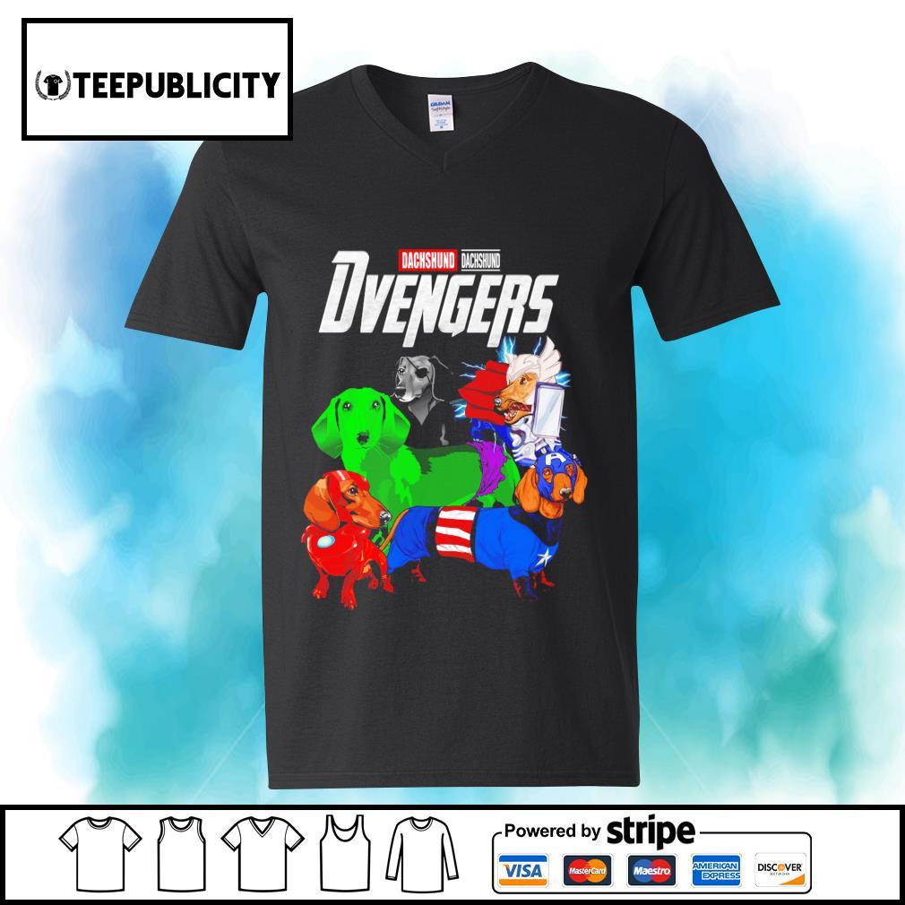 Dachshund Dvengers Marvel Avengers s youth-tee