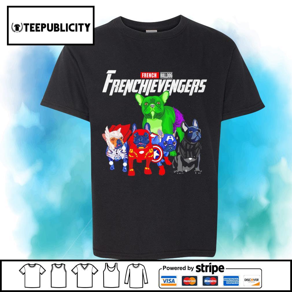 French Bulldog Frenchievengers Marvel Avengers shirt