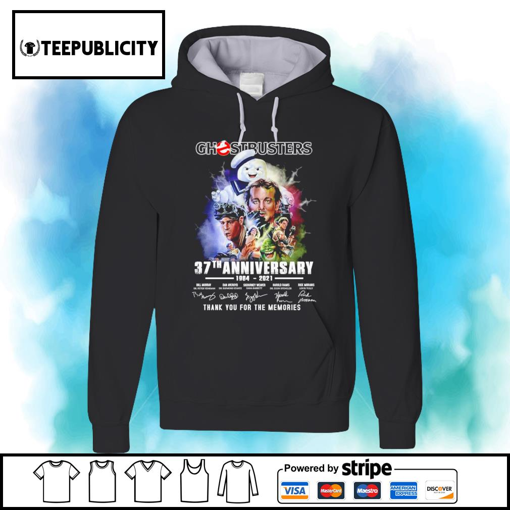 Ghostbusters 37th anniversary 1984 2021 thank you for the memories s hoodie