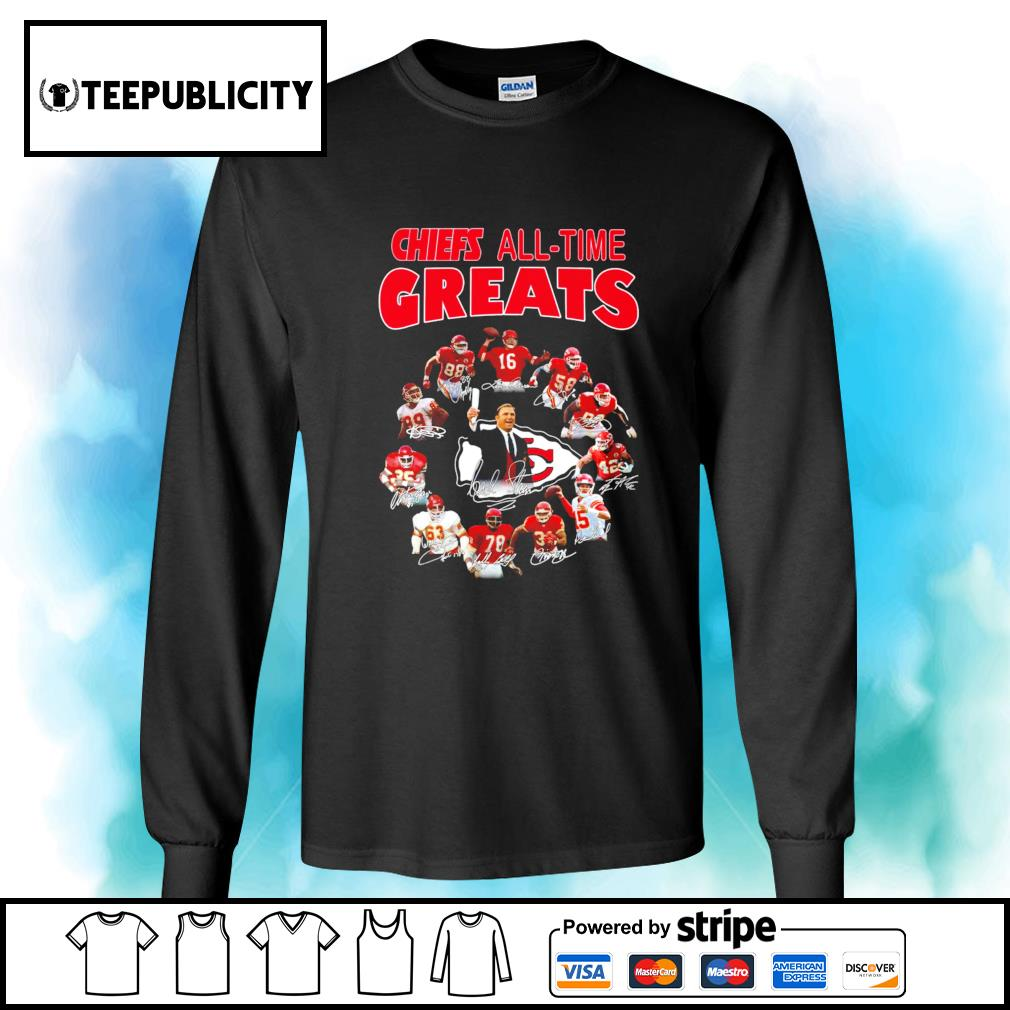 Kansas City Chiefs all-time great signatures s longsleeve-tee