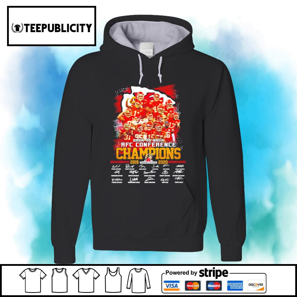 Kansas City Chiefs back to back AFC Conference Champions 2019 2020 signatures s hoodie