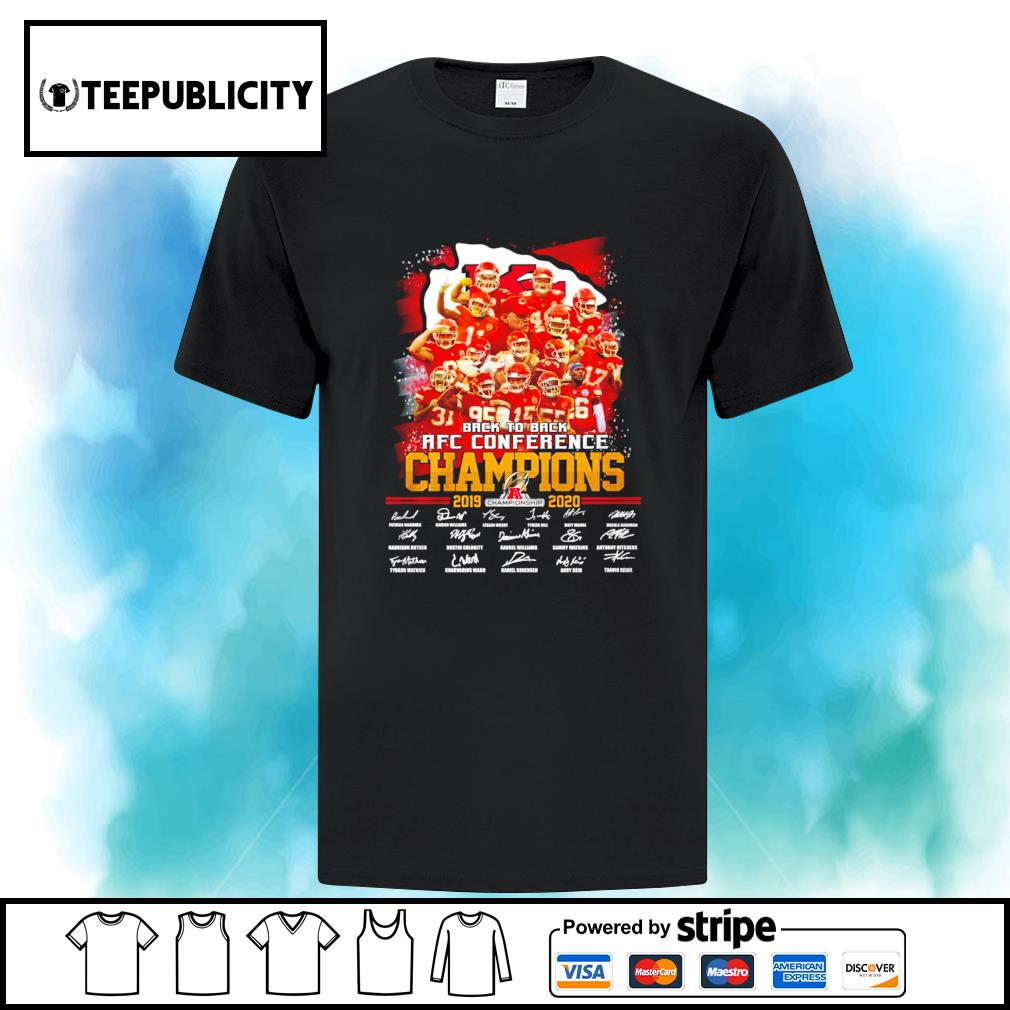 Kansas City Chiefs back to back AFC Conference Champions 2019 2020 signatures s ladies-tee