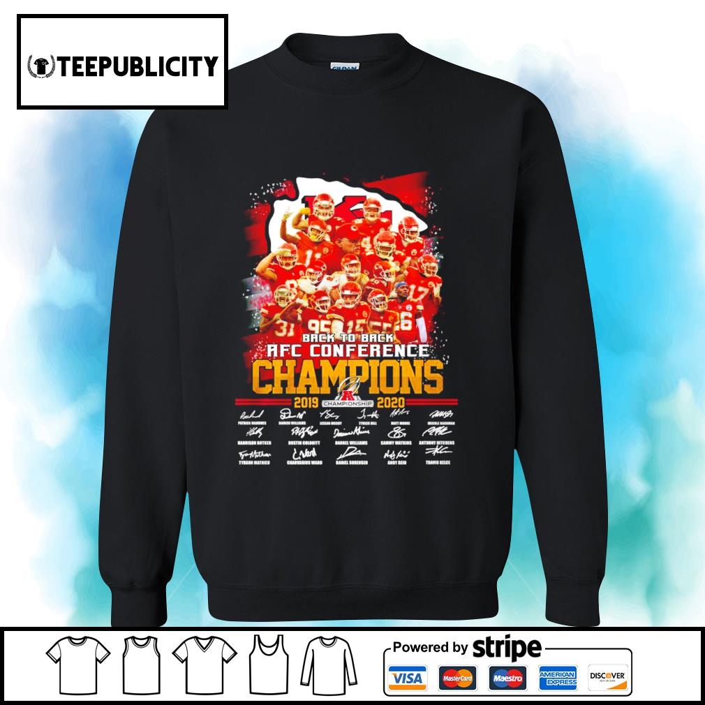 Kansas City Chiefs back to back AFC Conference Champions 2019 2020 signatures s sweater