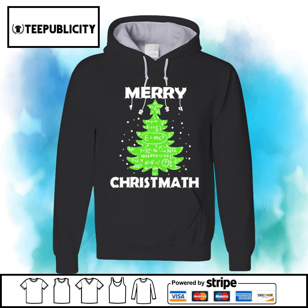 Merry Christmath Math tree s hoodie