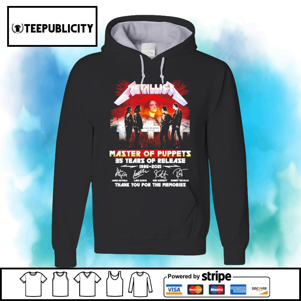Metallica Master of Puppets 35 years of release 1986 2021 thank you for the memories s hoodie