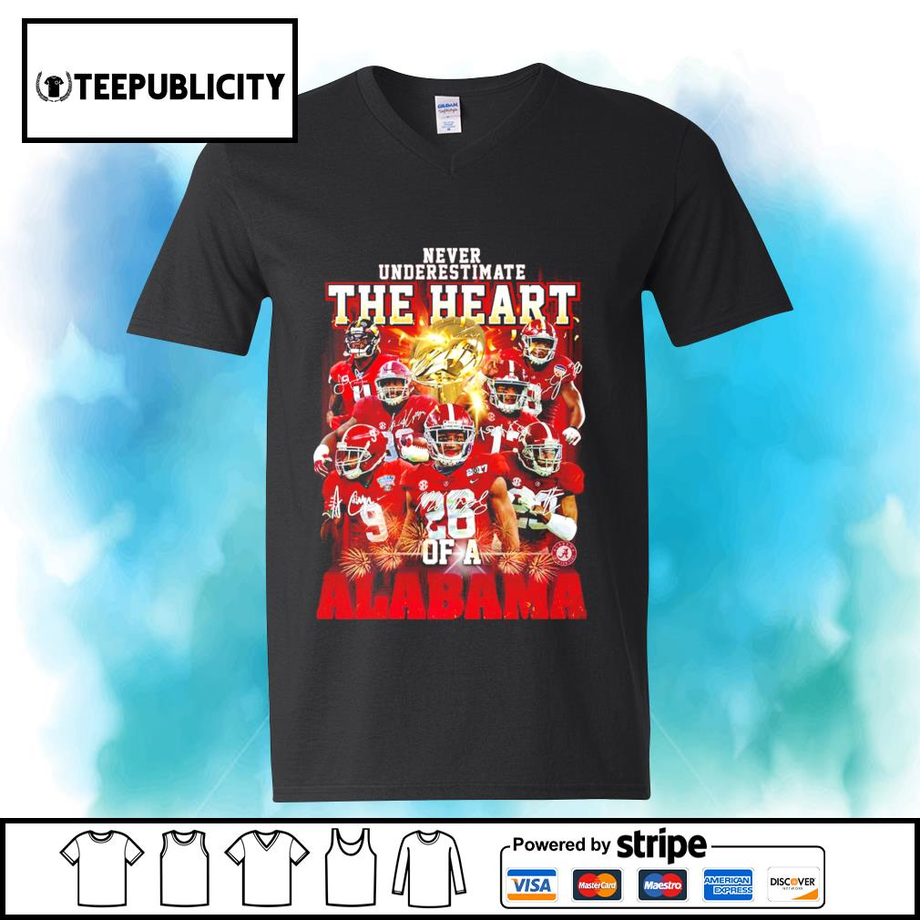 Never underestimate the heart of a Alabama Crimson Tide signatures 52 24 Ohio State s youth-tee