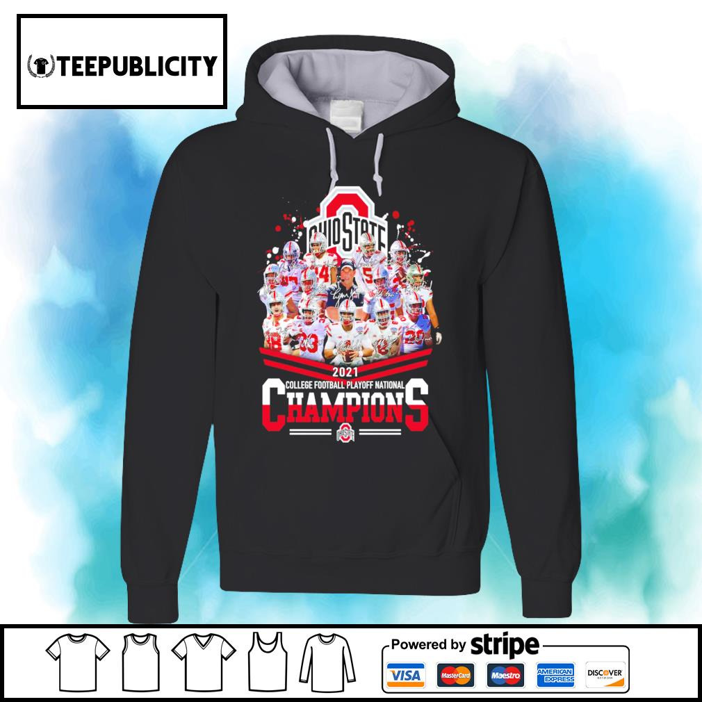 Ohio State Buckeyes 2021 college football playoff National Champions signatures s hoodie