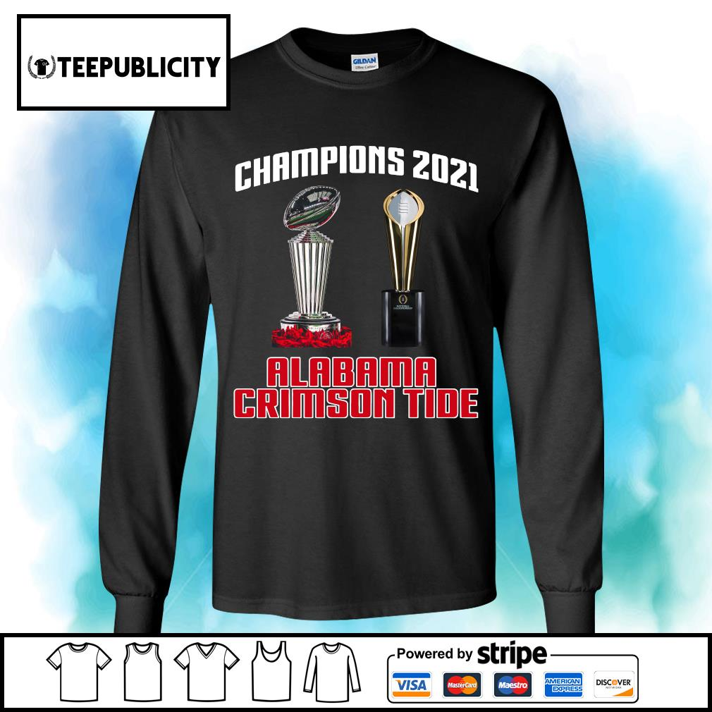 Rose Bowl cup National Championship cup Champions 2021 Alabama Crimson Tide 52 24 Ohio State s longsleeve-tee
