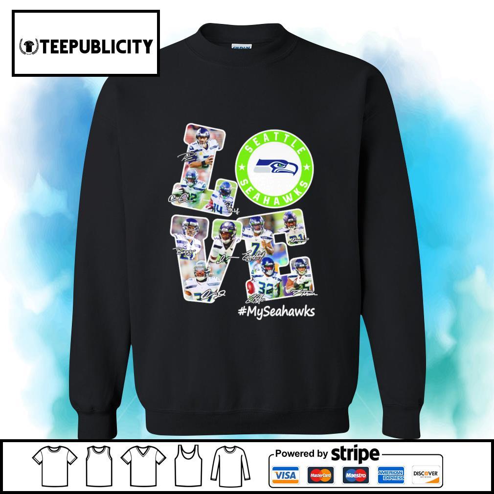 Seattle Seahawks Love signatures MySeahawks s sweater