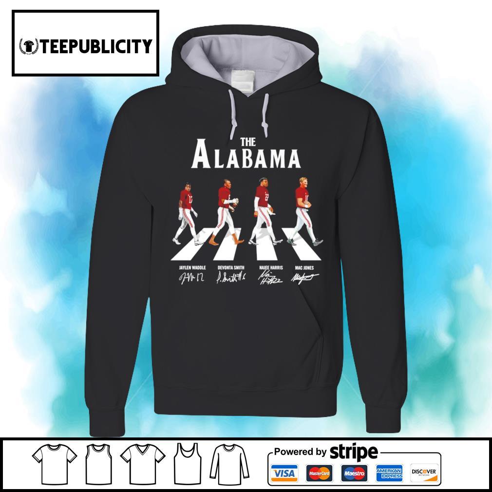 The Alabama Crimson Tide Abbey Road signatures s hoodie
