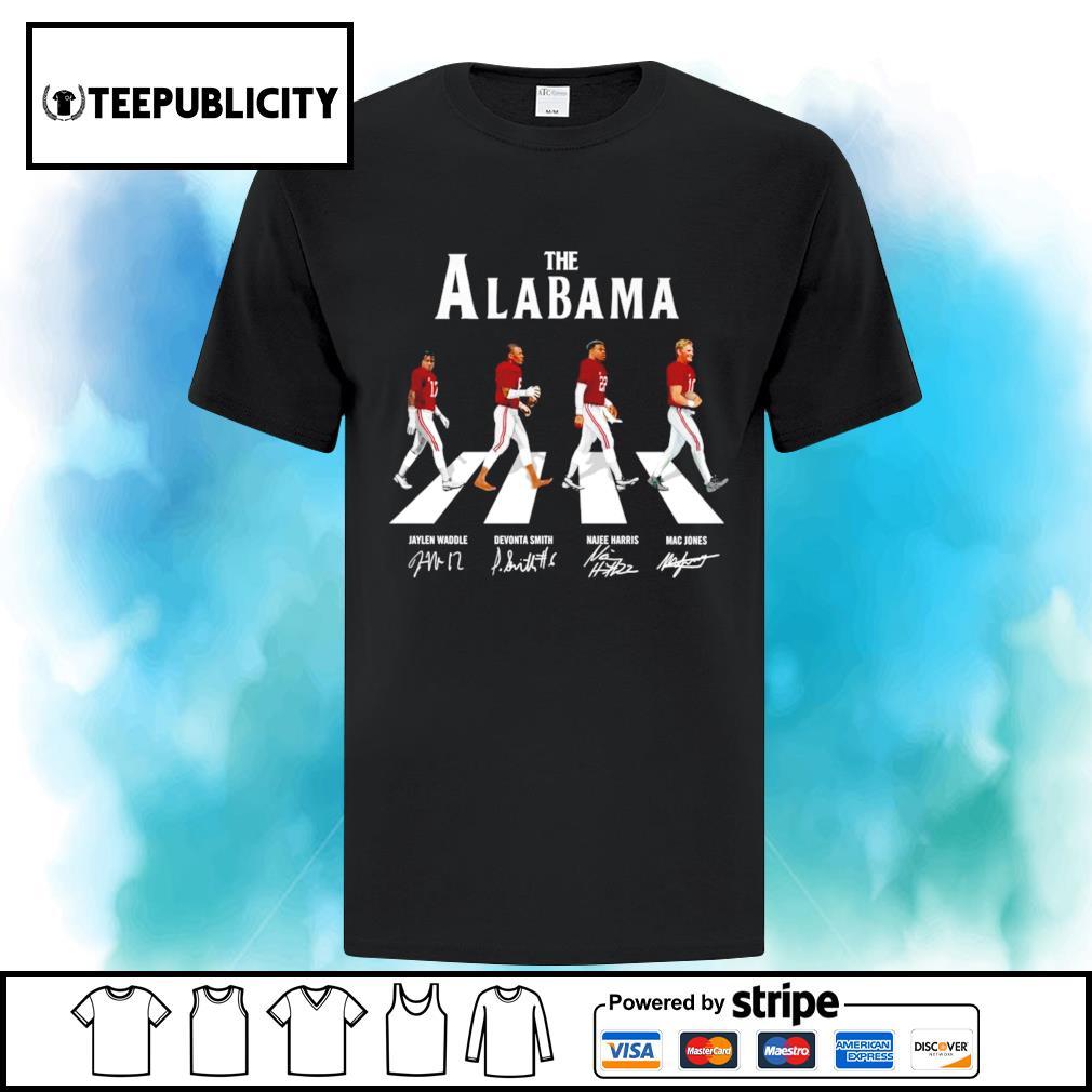 The Alabama Crimson Tide Abbey Road signatures s ladies-tee