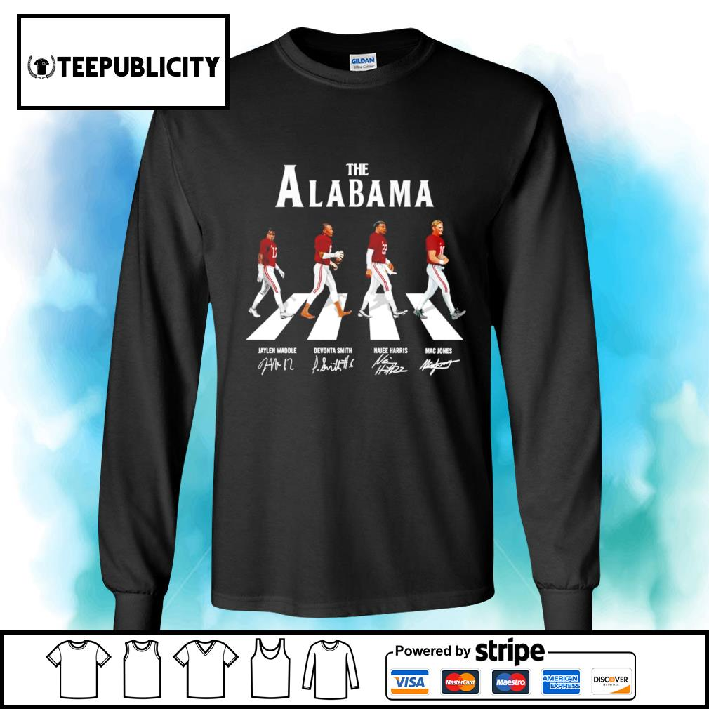 The Alabama Crimson Tide Abbey Road signatures s longsleeve-tee