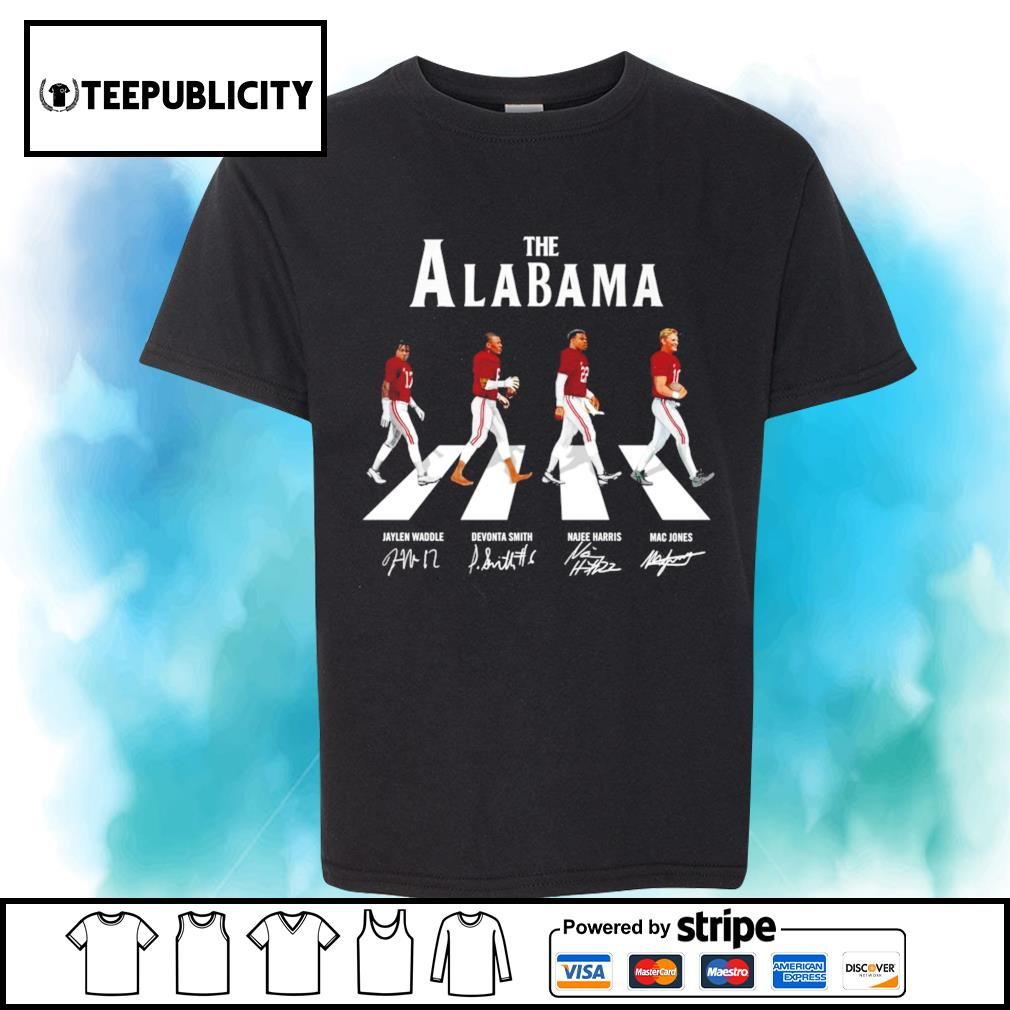 The Alabama Crimson Tide Abbey Road signatures shirt