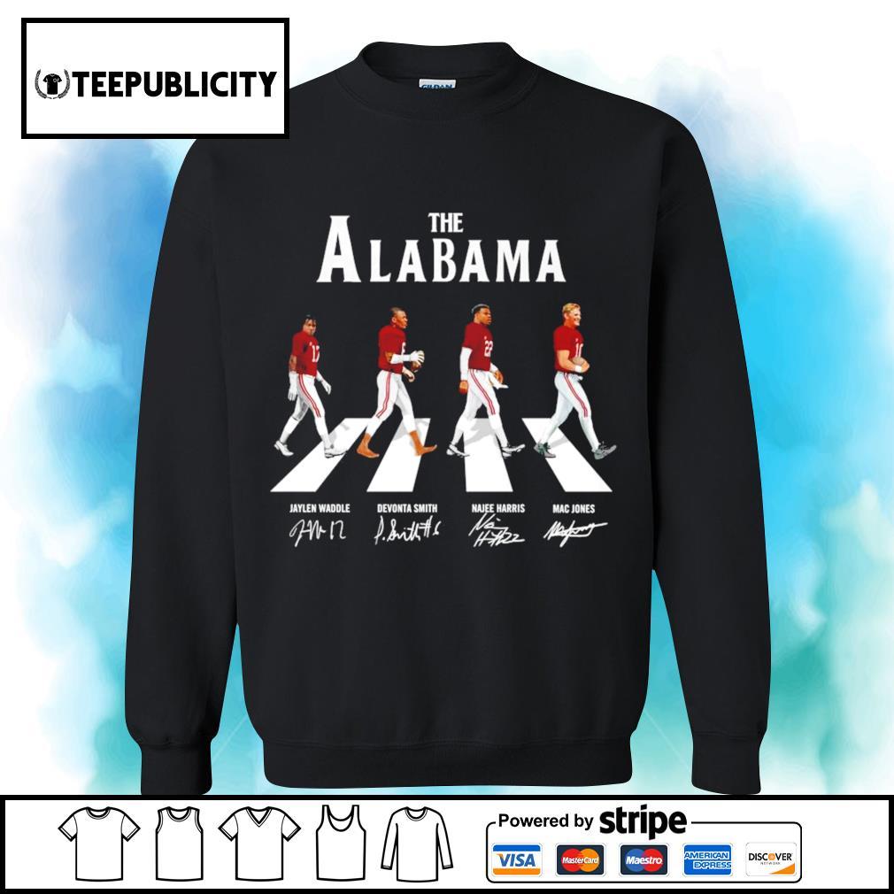 The Alabama Crimson Tide Abbey Road signatures s sweater