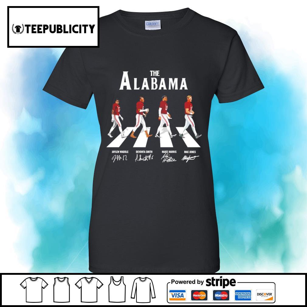 The Alabama Crimson Tide Abbey Road signatures s v-neck-t-shirt